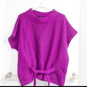 Sfera fuschia tie sweater